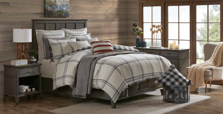 stacked comforters