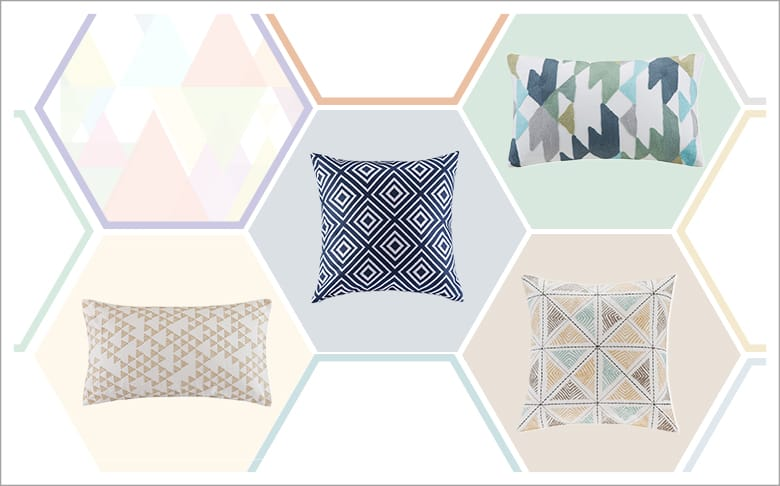 Geometric-inspired Decor ldeas: Dec Pillows