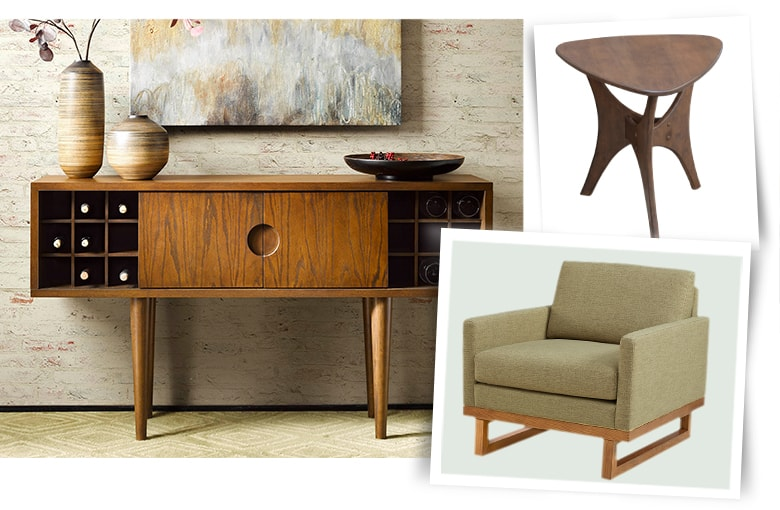 Mid-Century Modern: Wood Accents and Clean Lines
