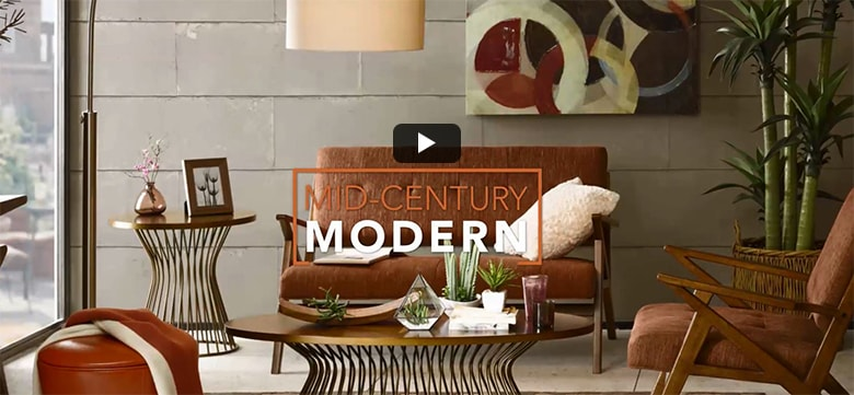 Video: Mid-Century Modern Home Decorating Inspiration