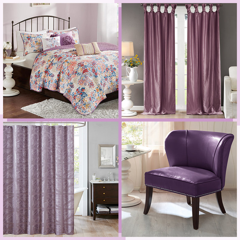 Radiant Orchid accent pieces and accessories