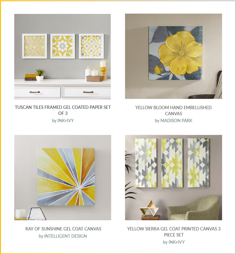 Yellow & Grey: Wall Art