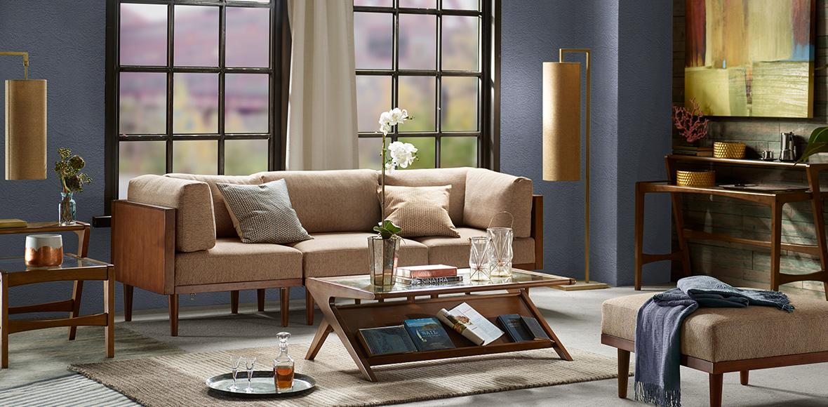 Living Room Violet Color designer living