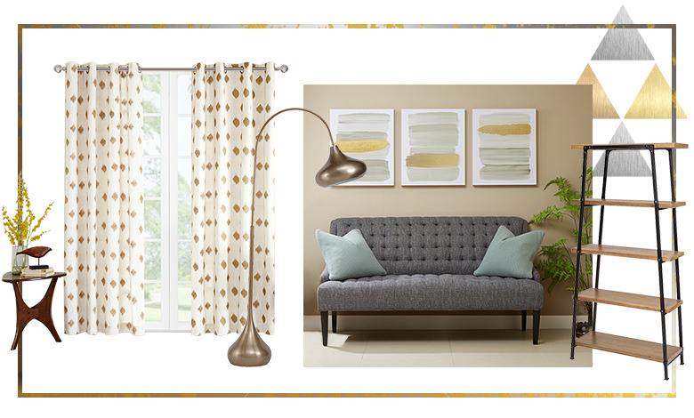 Metallic Accents Living Room