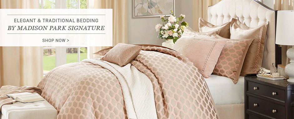 Elegant and traditional bedding by Madison Park Signature