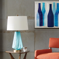 Waves Glass table lamp
