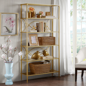 living and family room BOOKCASES SHELVING