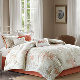 Bedding showcase comforters