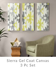 Sierra Gel Coat Canvas 3 Pc Set