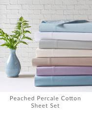 Peached Percale Cotton Sheet Set