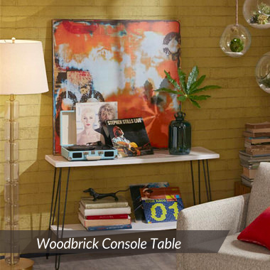 002 Woodbrick Console Table