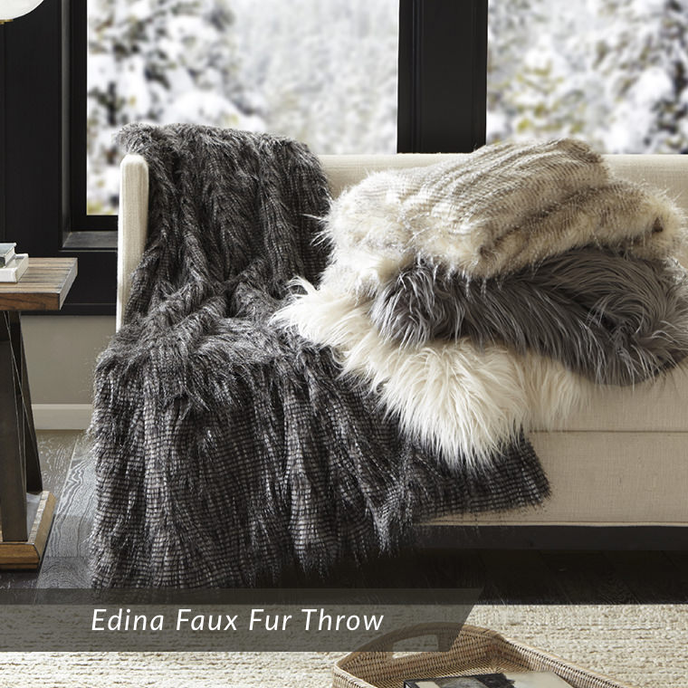 Edina Faux Fur Throw