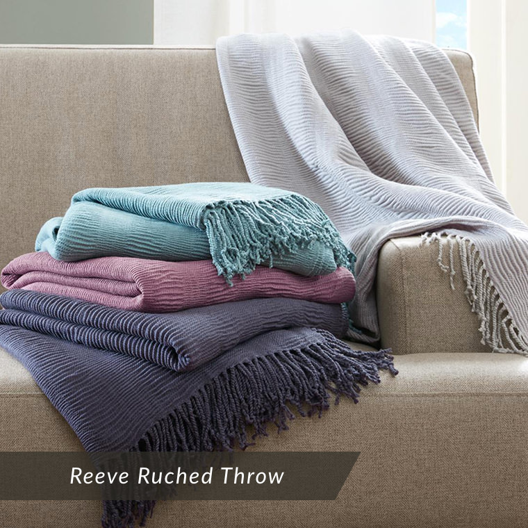 Reeve Ruched Throw