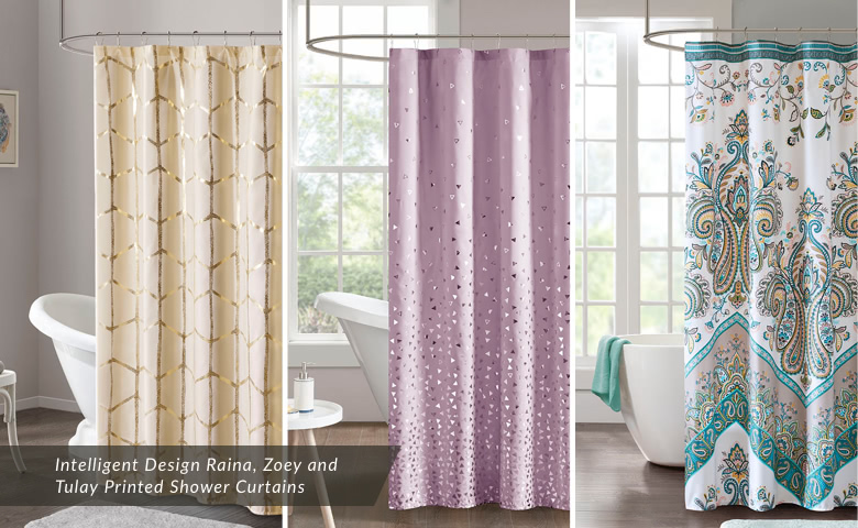 Intelligent Design Raina, Zoey and Tulay Printed Shower Curtains