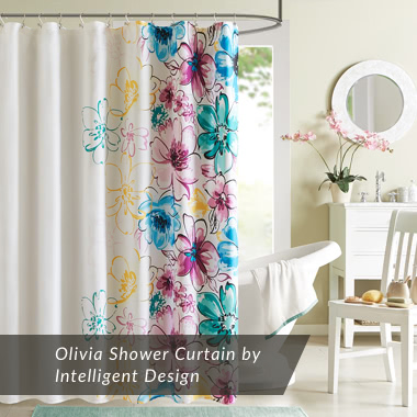Olivia Shower Curtain by Intelligent Design