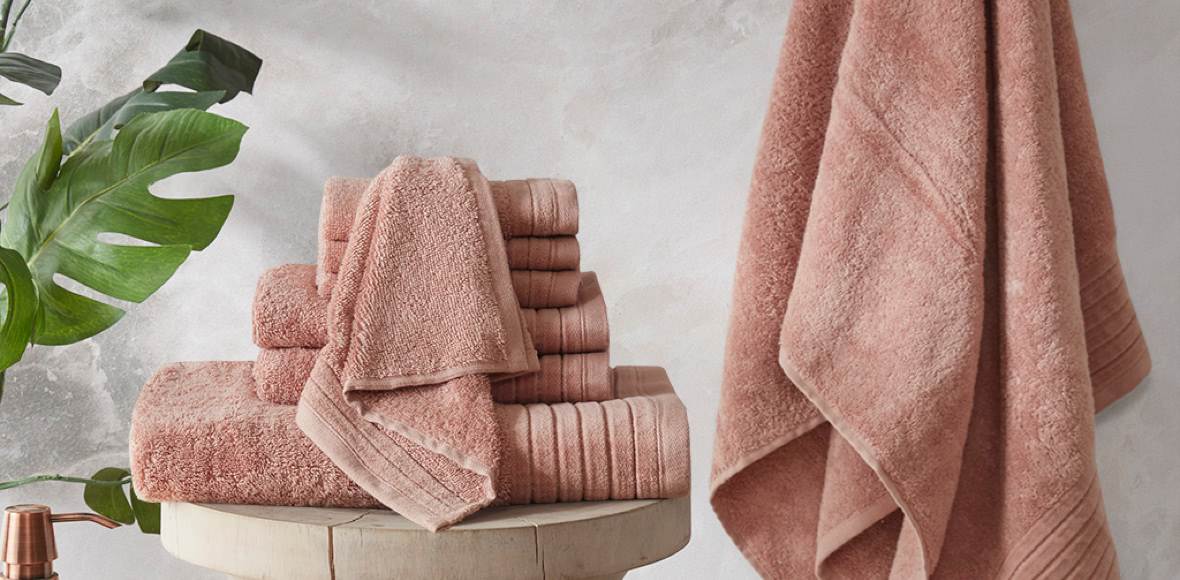 Mirage Solid 100% Cotton 8 Piece Towel Set